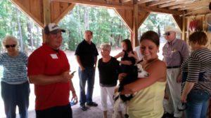 gathering at the barn